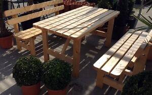 Garten Bank Tisch Set 2 Banke Gartentisch Holzbank Holztisch