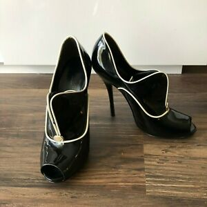 Authentic Gucci Black Patent Heels