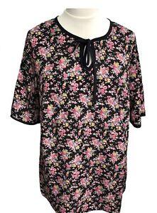 2846e5a78f Womens Plus Size Miss Chloe Floral Top Shirt Blouse Sizes 18 20 22 ...
