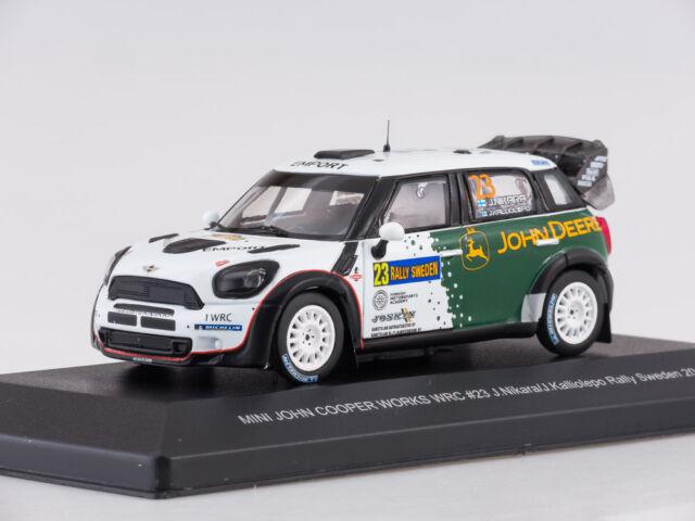 Mini John Cooper Works Wrc #23 Rally Sweden 2013 J.Nikara Whitebox 1:43 WBR015