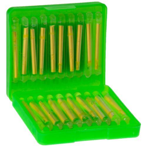 20 Knicklichter für Wallermontagen Zeck Light Stick Box Nachtangeln