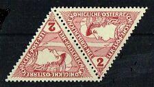 Österreich 1916 ANK 217 Michel 217 Eilmarke 2 Heller im Dreieck Paar postfrisch