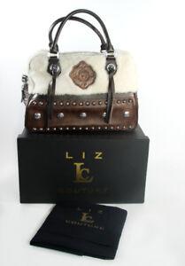 Liz-Couture-Limited-Edition-Bowler-Cowgirl-Leather-Purse-Handbag-Designer-Bag