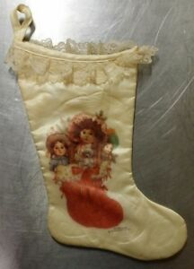 Victorian Christmas Stockings.Details About Vintage 1986 Giordano Art 16 1 2 Victorian Christmas Stocking Satin Lace