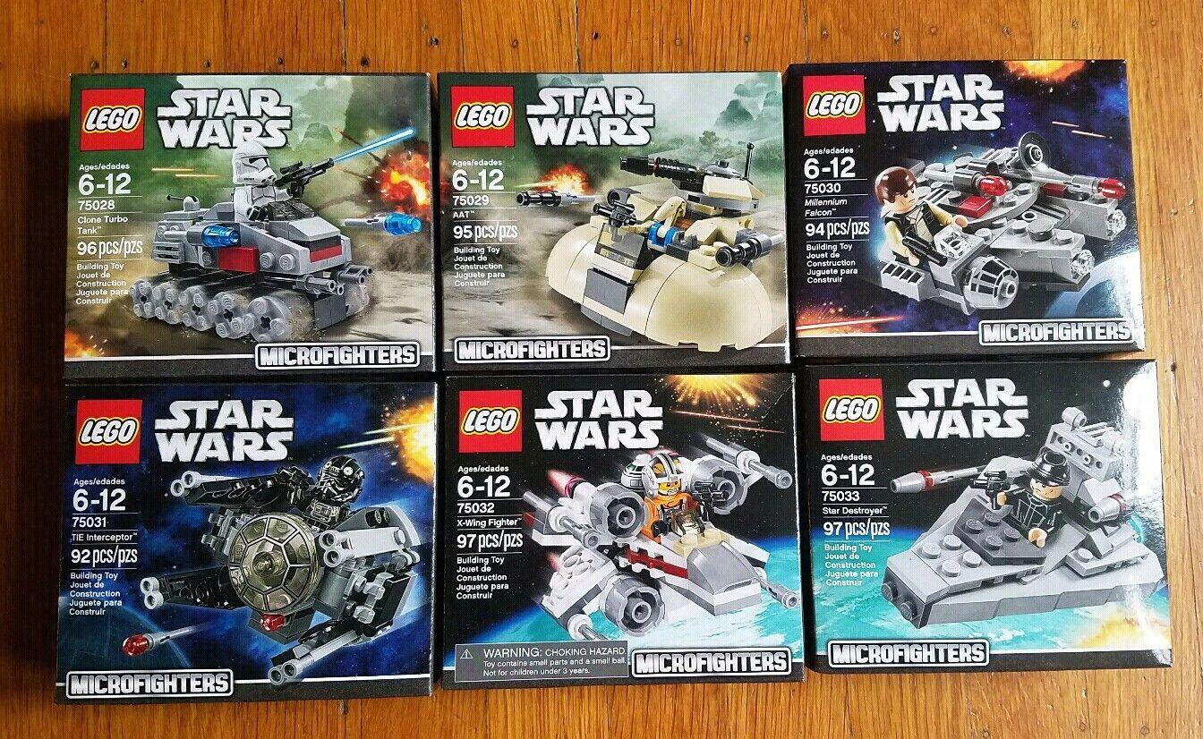 Lego stjärnornas krig 75028,75029,7530,7531,7532,7533 Mikrofighters Serie 1 –NISB