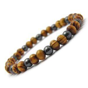 New Mode Bracelet-bijoux Homme/men's Perles Naturelle Bois 6mm Pierre De Gemmes Eg9jyurn-07234709-644981383