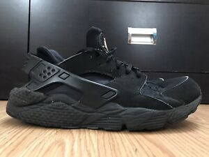 Nike-Air-Huarache-Men-039-s-Shoes-Size-9-Athletic-Triple-Black-318429-003-BEATERS