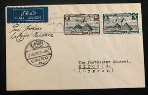 1935-Cairo-Egypt-Airmail-Cover-To-Nicosia-CYPRUS