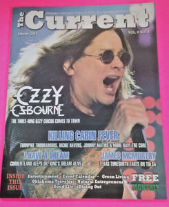 The Current Magazine January 2011 Ozzy Osbourne Johnny Mathis The Band Perry