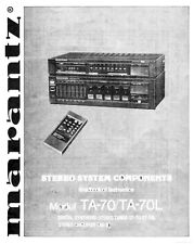 Marantz TA-70L System Owners Instruction Manual