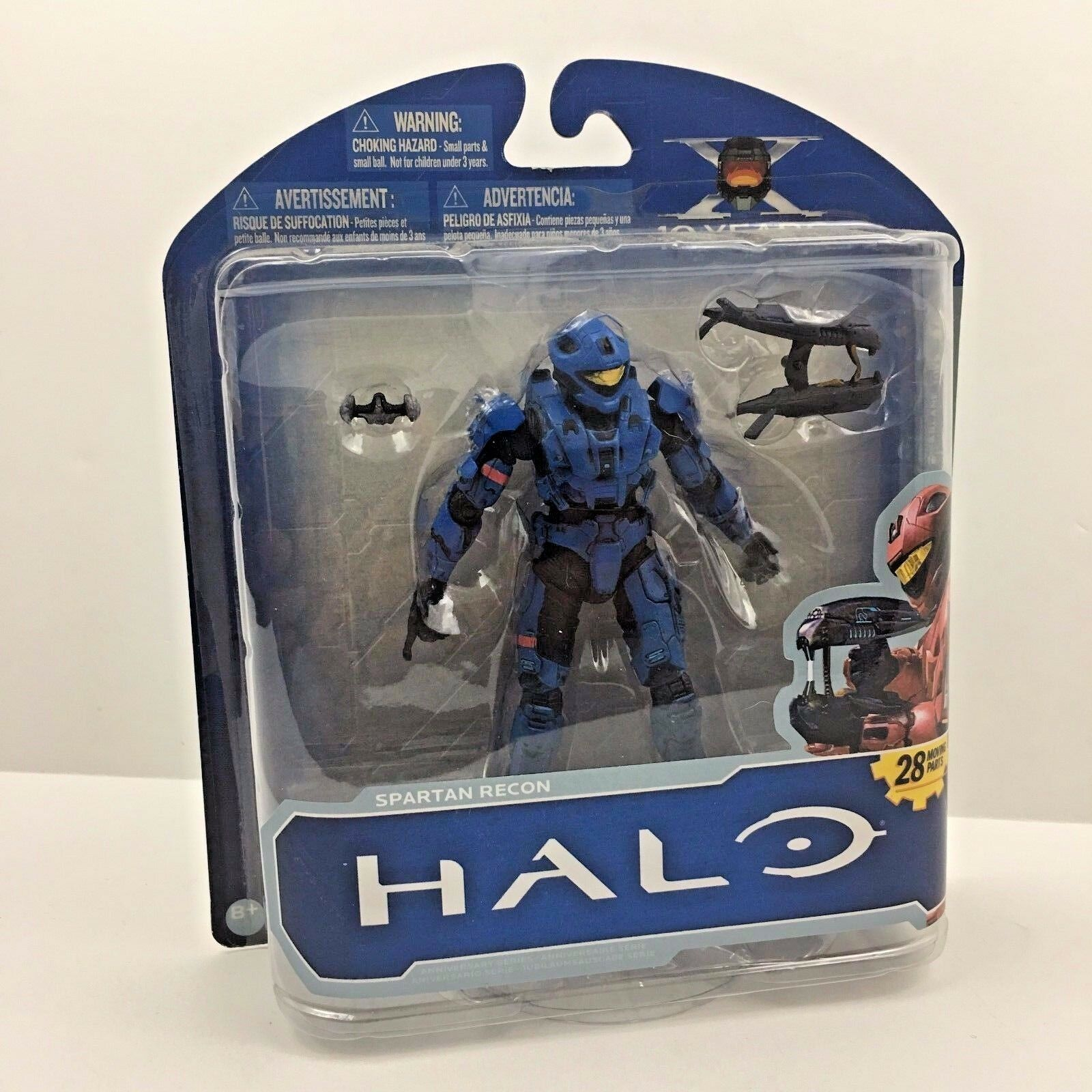 McFarlane Toys HALO bluee Spartan Recon 10th Anniversary Series Action Figure NEW