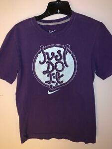 Nike-Men-039-s-S-Graphic-Tee-Purple-JUST-DO-IT