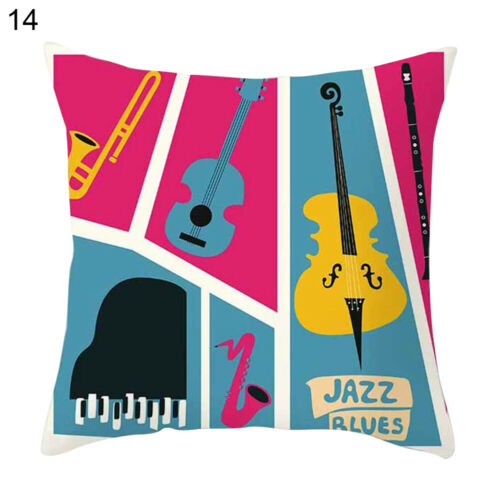 JW/_ Music Piano Square Throw Pillow Case Cushion Cover Home Sofa Car Decor Int