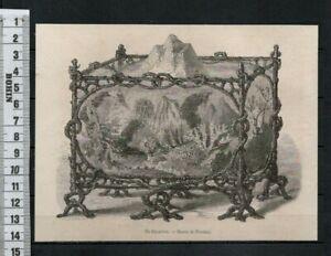 G61  / GRAVURE 1860 /  UN AQUARIUM DESSIN DE FREEMAN