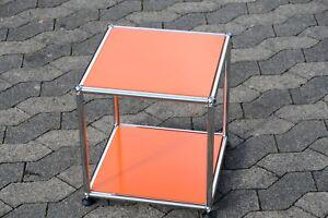 1 Original Usm Haller Table D'appoint Table Orange 37x37x39cm Neuf-afficher Le Titre D'origine
