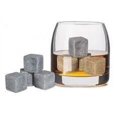 Whiskey Whisky Stones Kühlsteine True on the Rocks Taste mit Samtbeutel 4er Set