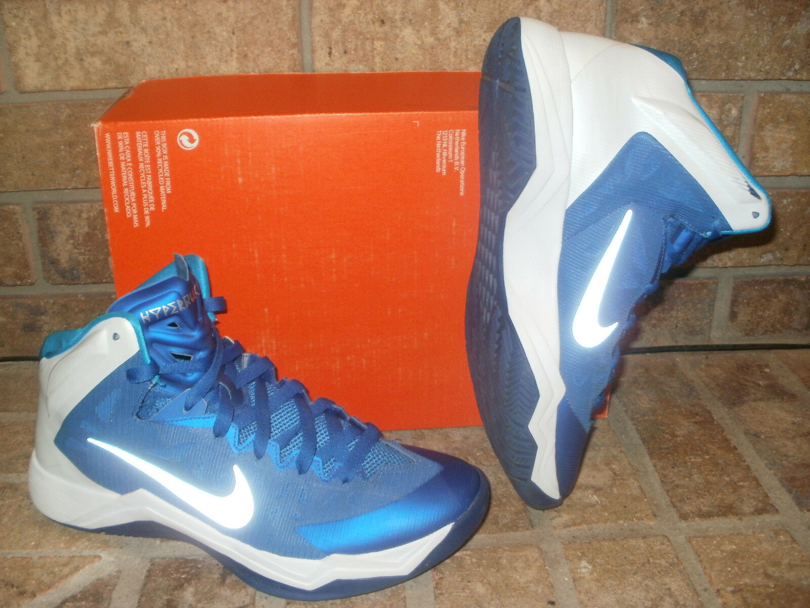 New Nike Zoom HyperQuickness TB Basketball Shoe / 599420-401 Blue-White Price reduction Comfortable and good-looking