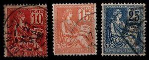 Serie-2-des-MOUCHON-Obliteres-Cote-5-Lot-Timbres-France-116-a-118