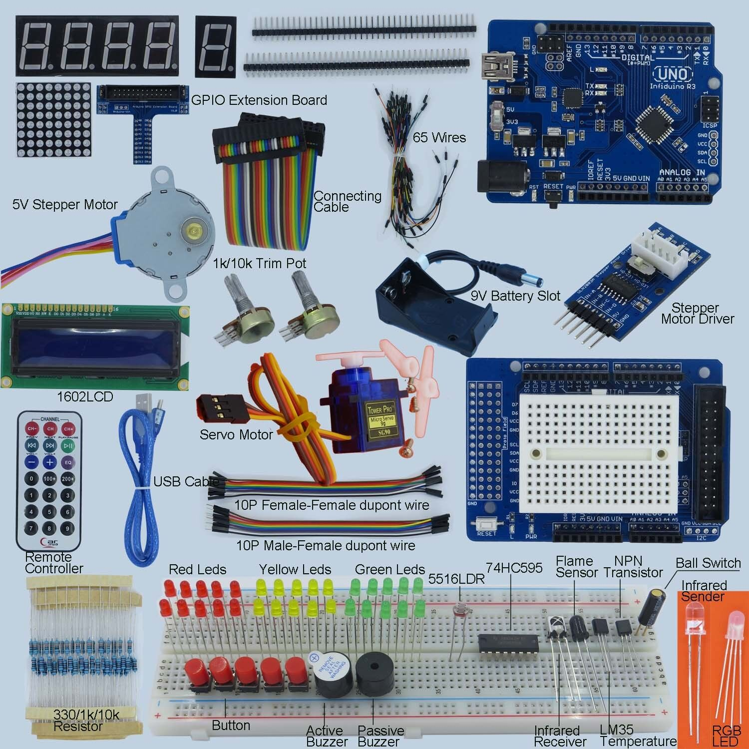 new ultimate uno r3 starter kit for arduino 1602