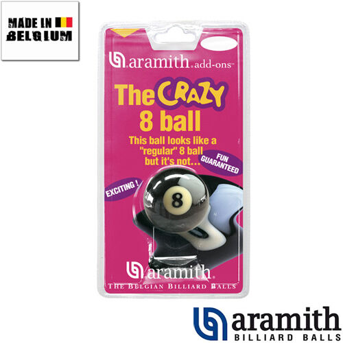 "Bille n°8 Aramith /""Crazy 8 Ball/"" 57mm"