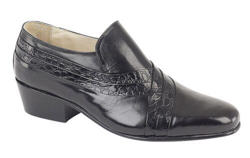 Homme Semelle en cuir Chaussures à Enfiler Talon Cubain formelle Taille de robe