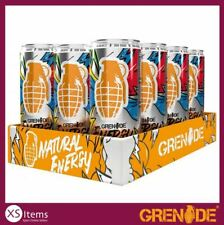 Grenade Energy Drink Original 12 x 330ml Cans Natural Energy BCAA Vitamin B Gym