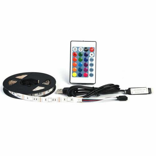 USB TV PC DEL Bande Léger Kit RGB Changement de Couleur Éclairage à distance sans fil UK