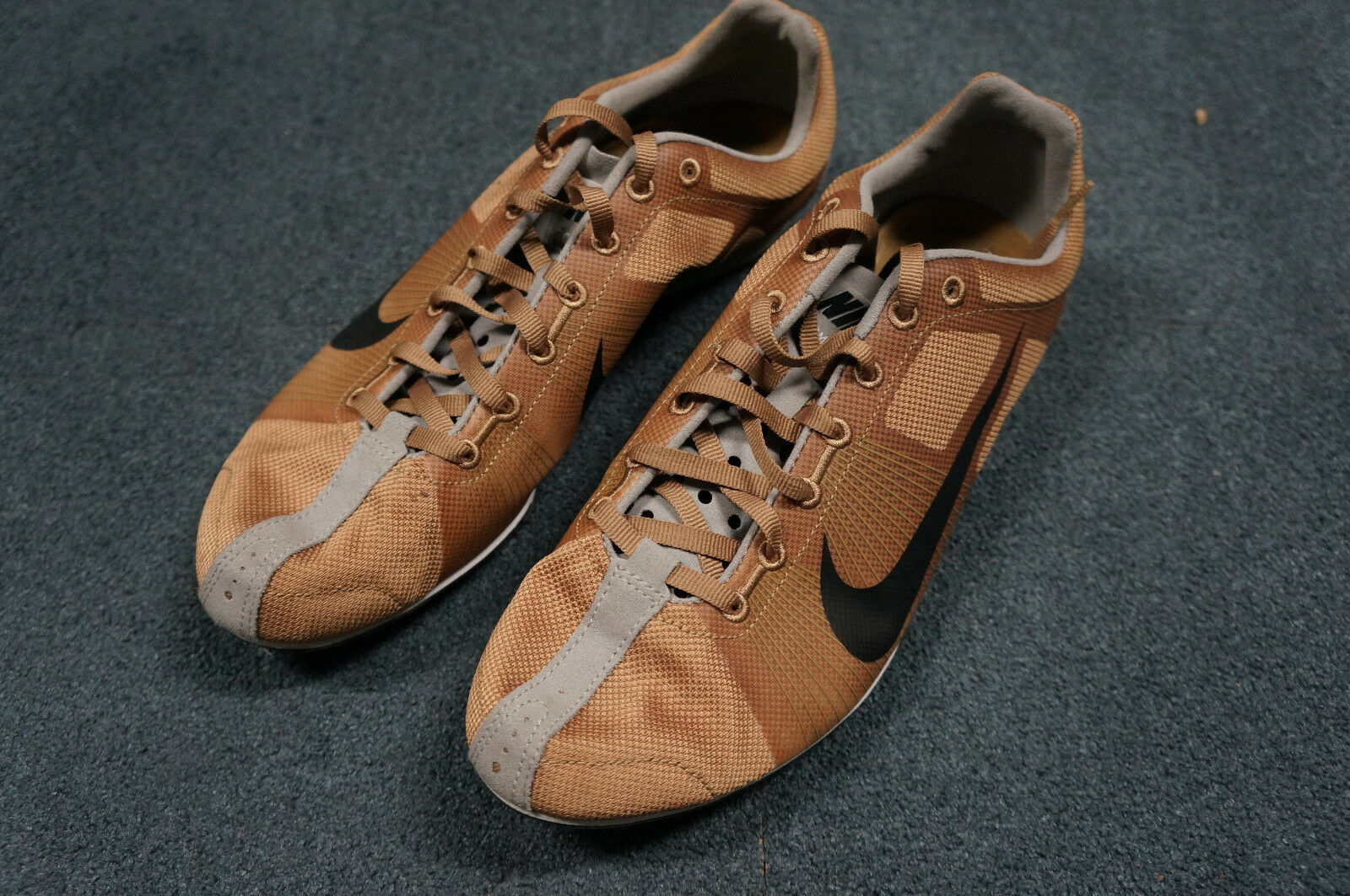 Nike Bowerman Mens US 7.5 Brown Spike Track Shoes Zoom D B3072 Comfortable and good-looking