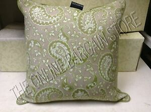 Image Is Loading Frontgate TAN Cottage Paisley Outdoor Sofa Patio Throw