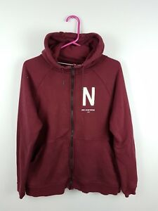 691fe05485ac VTG WOMENS BURGUNDY NIKE ATHLETIC SPORTS ZIP-UP TRACKSUIT TOP JAKCET ...