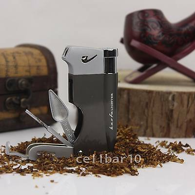 BEST Gift For yourself Grey Cigarette Cigar Pipe Lighter With Pipe Tools AM275