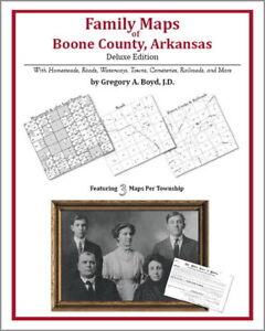 Family Maps Boone County Arkansas Genealogy AR Platr