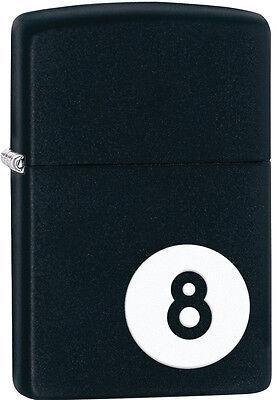 Zippo 8 Ball Billiards Black Matte Windproof Lighter 28432 New