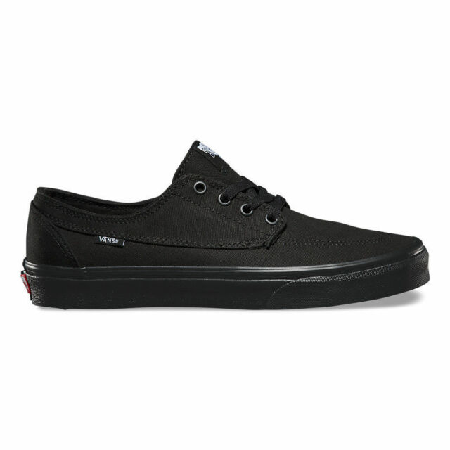 8c8afdb4873dc6 Vans BRIGATA Black Black Casual Skate Sneakers VN-0ZSLBKA (533) Men s Shoes