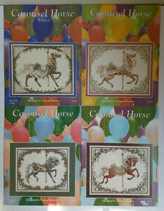 4-Carousel-Horse-WINTER-SPRING-SUMMER-FALL-by-Teresa-Wentzler-Cross-Stitch