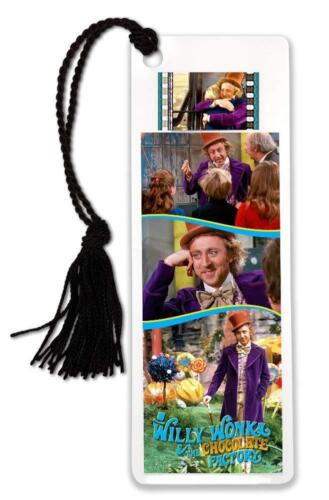 Willy Wonka /& the Chocolate Factory Bookmark with Tassel /& 35mm movie film cell