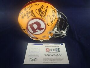 70-GREATEST-Redskins-Signed-Auth-Mini-Helmet-W-14-Autographs-SCH-29198-Auth