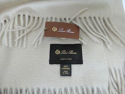 LORO PIANA Beige Cashmere Throw/Blanket NEW
