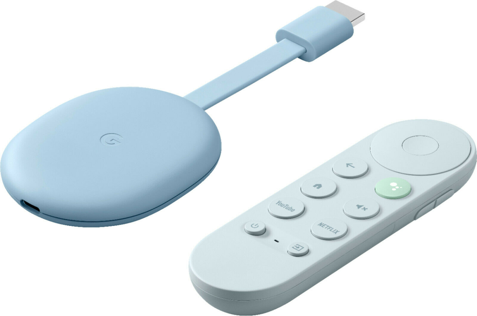 Google Chromecast with Google TV 2020 - Streaming Media Player 4K HDR - Sky Blue blue chromecast google hdr media player sky streaming with