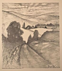 b-1875-FREDERICK-POLLEY-Lithograph-Franklin-County-INDIANA-Shadows-of-Eventide