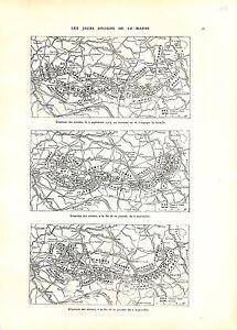 """WWI 1914 Carte Bataille de la Marne Armée Française British Army B ILLUSTRATION - France - Commentaires du vendeur : """"OCCASION"""" - France"""