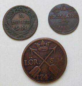 Schweden-Daler-1718-1-12-Skilling-1812-Ore-1742