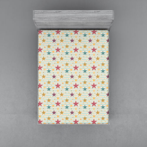 Stars Fitted Sheet Cover with All-Round Elastic Pocket in 4 Sizes
