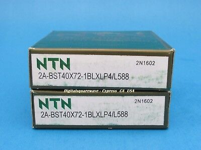 NTN 2A-BST40x90-1BLXLP4//L588 Double Seals Ball Screw Bearings Matched set of 2