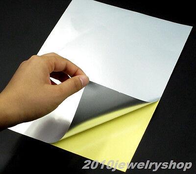 20x A4 PET Matt Silver Film Sticker Paper Self Adhesive Glossy Fit Laser Printer