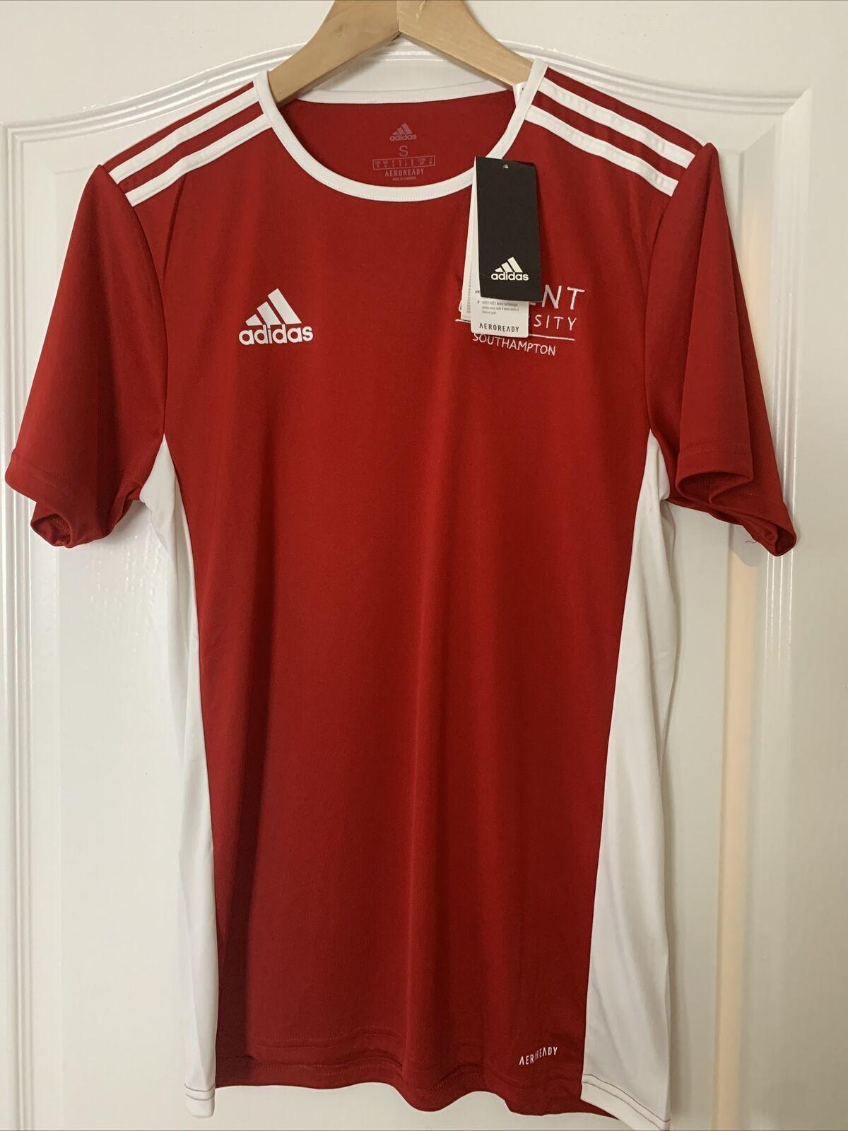 Adidas Mens Football Red T Shirt Entrada 18 Jersey Solent University Size S BNWT