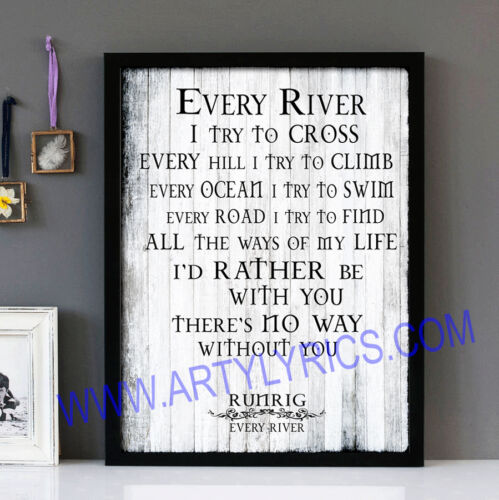 Runrig Every River Stunning Framed Lyrics