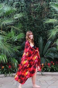 04b4e51640548 Sarong Dress Swim Cover Cruise Beach Luau Wrap Shawl Pareo Sunset ...
