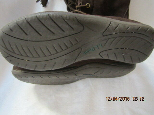 Seminuevo Para Mujer Talla Alto 8 De Alto Talla De Gamuza Marrón L.l. Bean botas De Cuero Vn   05488 7d23fb