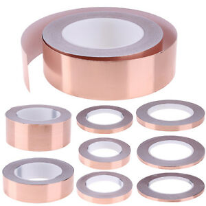 30-m-Rouleau-Adhesif-Copper-Foil-Limace-Ruban-de-blindage-anti-moustiques-cassette-6-10-12-25mm